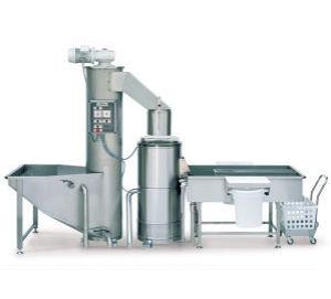 pramoninė bulvių ir morkų skutimo mašina